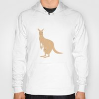 kangaroo Hoodies featuring Kangaroo by tamara elphick