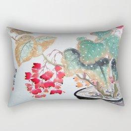 Begonia Flowers Rectangular Pillow