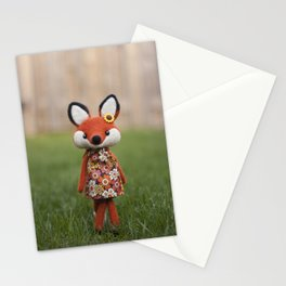Madeline the fox - doll Stationery Cards