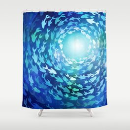 Aquatics Shower Curtain