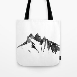 Mountain Painting | Landscape | Black and White Minimalism | By Magda Opoka Tote Bag