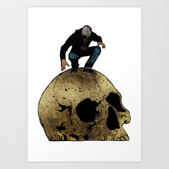 Leroy And The Giant's Giant Skull Art Print