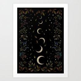 Crescent Moon Garden Art Print