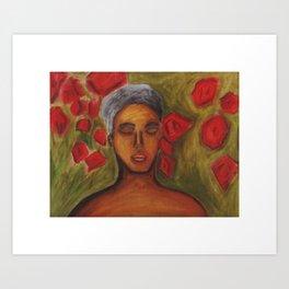 Rami Among the Roses Art Print