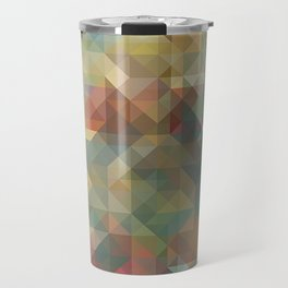Chic Abstract Retro Triangles Mosaic Pattern Travel Mug