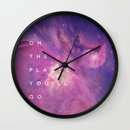 The Places You'll Go II Wall Clock