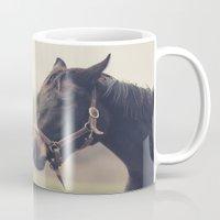 horses Mugs featuring Horses  by Laura Ruth