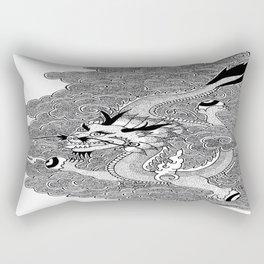 fire breathing dragon Rectangular Pillow