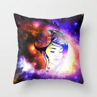iris Throw Pillows featuring Iris  by haroulita