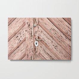 pink wooden doors Metal Print