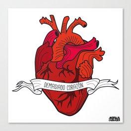 02 - TATTOO DEMASIADO CORAZÓN Canvas Print