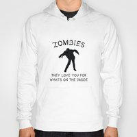 zombies Hoodies featuring Zombies by AmazingVision
