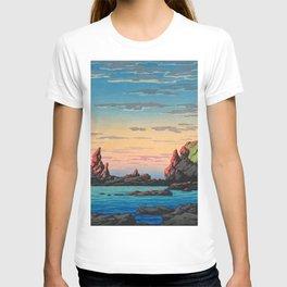 Kawase Hasui - Travel Souvenir Third Collection, Ryuga Island, Oga Peninsula T-shirt