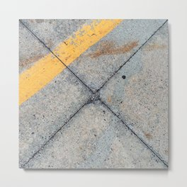 Concrete Ground Metal Print