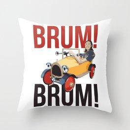 Brum Brum Throw Pillow