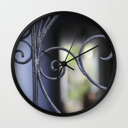Charleston Blue Wrought Iron Wall Clock