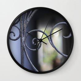 Charleston Blue Wrought Iron Wall Clock