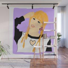 Knock Knock! Momo Purple Wall Mural