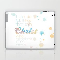 i can do all things through Christ Laptop & iPad Skin