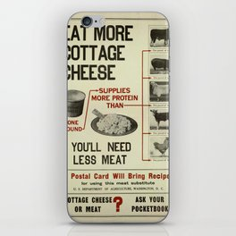 Vintage poster - Cottage Cheese iPhone Skin