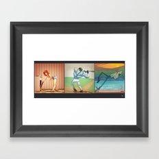Strips Framed Art Print