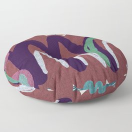 Sacred Dreaming Mountains  Floor Pillow