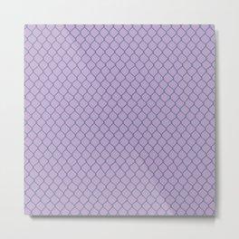 Chain Link Lavender Metal Print