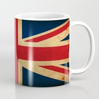 union jack Mugs featuring Union Jack by NicoWriter
