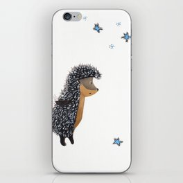 Hedgehog thinks of a happy wish iPhone Skin