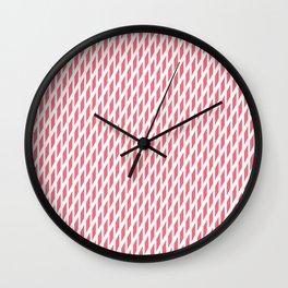 Pink 1960s vibe Wall Clock