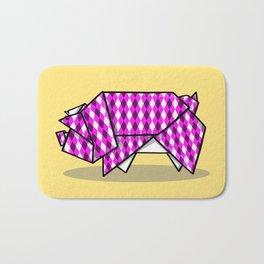 Origami Pig Bath Mat