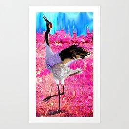 tall bird Art Print