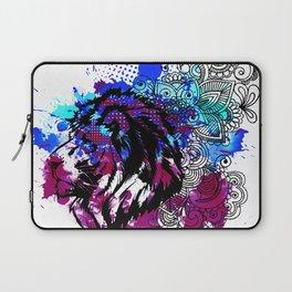 Purple Lion Spirit Laptop Sleeve