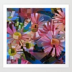 A Daisy Abstract Art Print