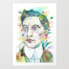 CONSTANTINE P. CAVAFY - watercolor portrait.1 Art Print