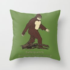 The Samsquanch (Anthropoidipes Sunnyvalis) Throw Pillow