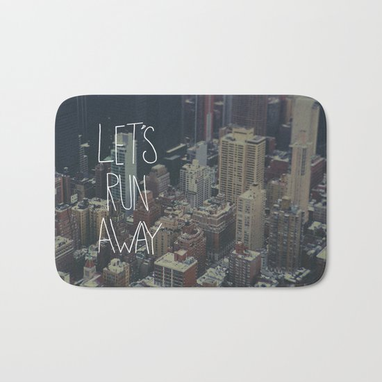 Let's Run Away to NYC Bath Mat