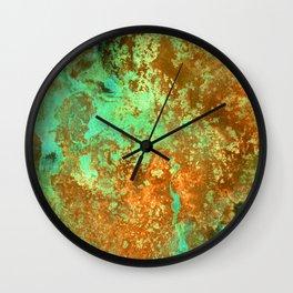 Rust patina abstract painting Wall Clock