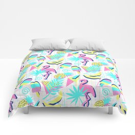 80s Flashback Tropical Fun Comforters