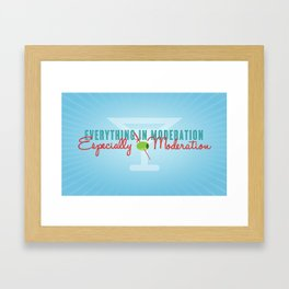 Everything in Moderation Framed Art Print