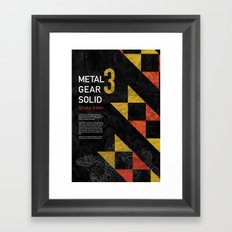 Metal Gear Solid 3: Snake Eater Framed Art Print