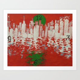 Shinjuku on the Water Reassembled Art Print