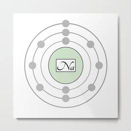 Sodium - Bohr Model Metal Print