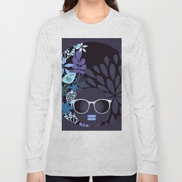 Afro Diva : Lavender Periwinkle Long Sleeve T-shirt