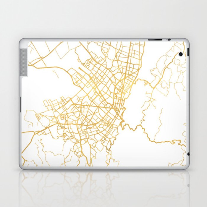 BOGOTA COLOMBIA CITY STREET MAP ART Laptop & iPad Skin by ...