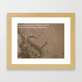 The Beach Heart Framed Art Print