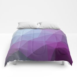 Shades Of Purple Triangle Abstract Comforters