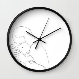 The Good Shepherd line drawing Wall Clock