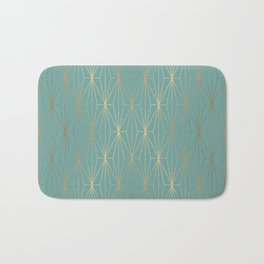 ELEGANT BLUE GOLD PATTERN v3 Bath Mat