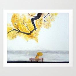 Last day of Autumn Art Print